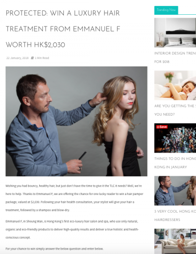 Expatliving 2018 Jan Competition -Hair Promo